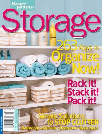 Storage, Better Homes & Gardens, 2007