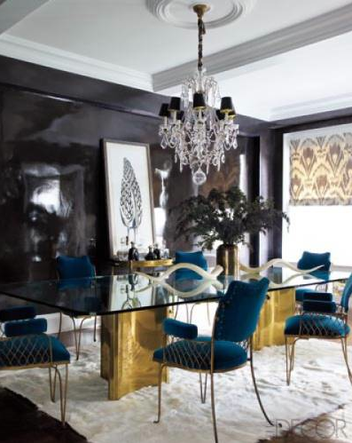 Dining Room in Jackie Astier's Manhattan home. Photography Credit: Eric Piasecki.
