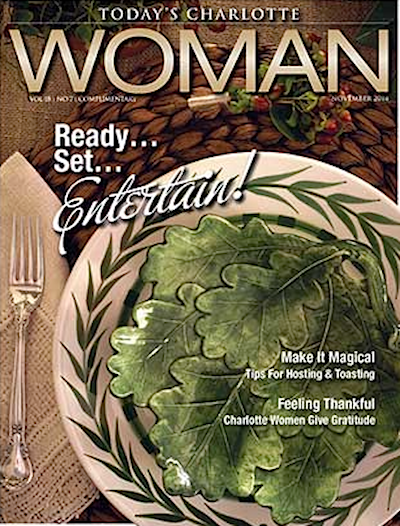 Today's Charlotte Woman cover Tabletop by Gray Walker