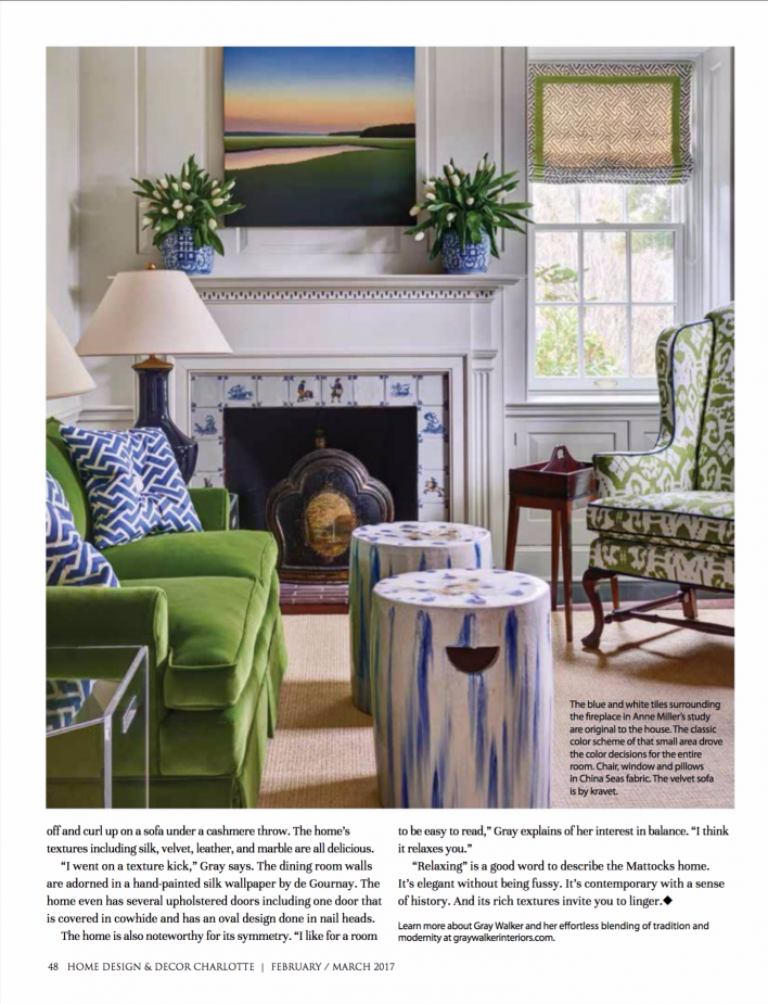 Charlotte Home Design Decor Gray Walker Interiors