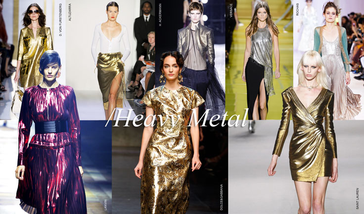 Heavy metal rules the runway.